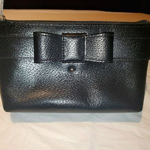 Kate Spade Mini Leather Pouch / Clutch with Bow